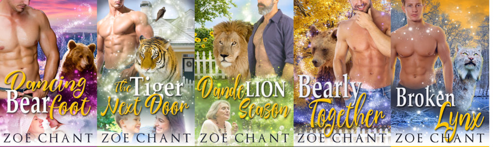 The covers of the Green Valley Shifters series